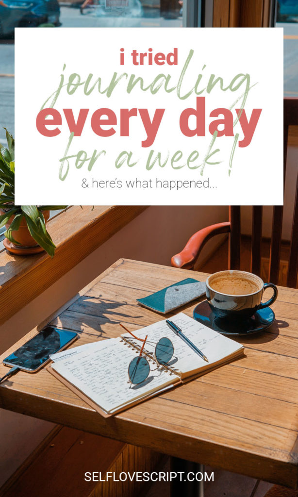 I Tried Journaling Every Day for a Week